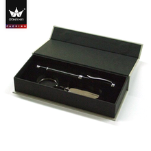 Black usb flash drive gift box with silver logo