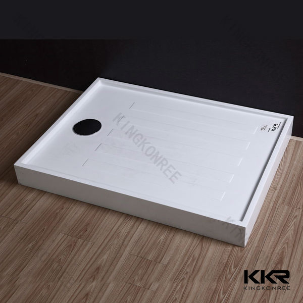 shenzhen marble like solid surface shower tray, portable shower tray