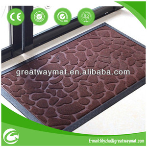 PP anti slip door mat with rubber backing