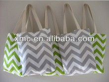 Wholesale chevron shopping bag canvas tote bag cheap