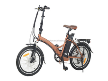 36V 10AH Folding Electric Bike 20 inch Mini Electric Bicycle Mechanical Disc Brakes with USB Cell Phone Recharger Holder E-bike