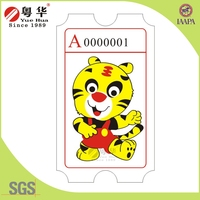 Hot selling factory price game raffle ticket for game machine