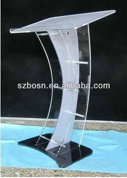 cheap acrylic lectern/luxury acrylic lectern/contemporary acrylic lectern for sale