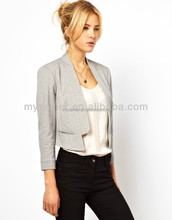 garment clothing hign end polyester formal office wear women fancy suit blazer for women 2015