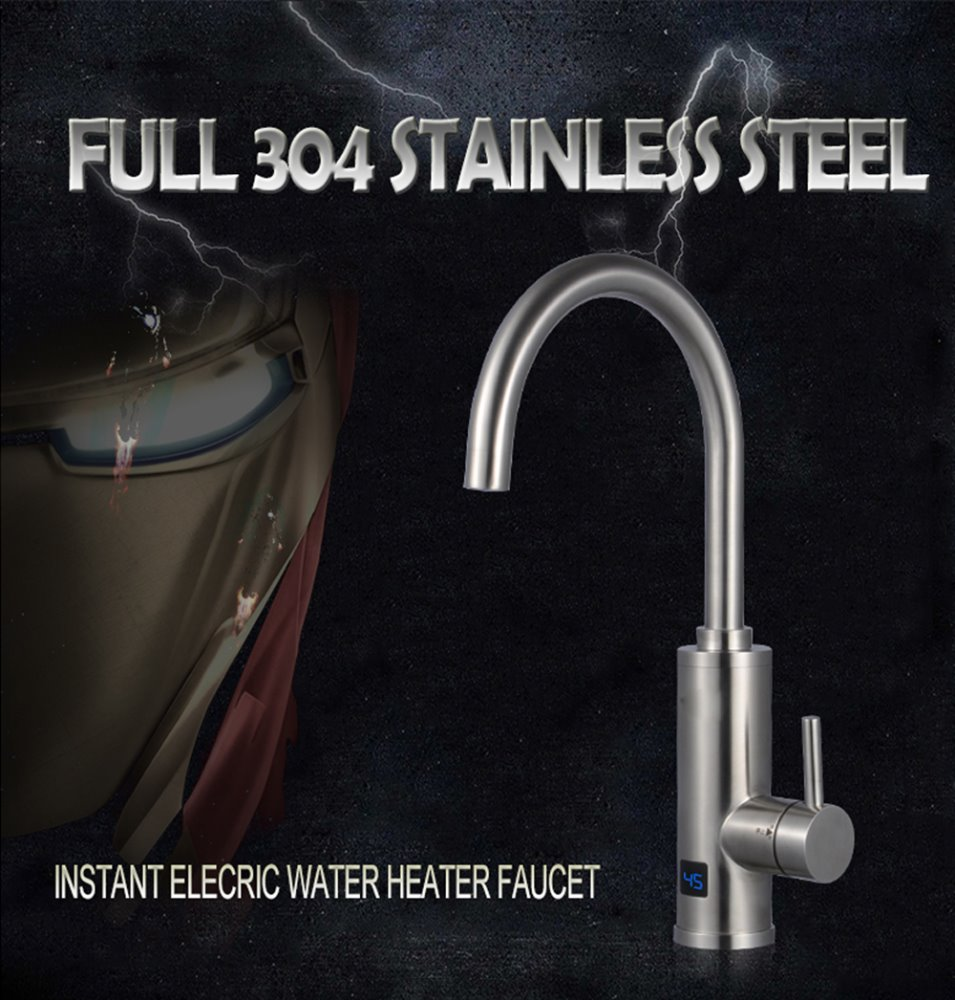 Full 304 Stainless Steel Instant Water Heater Faucet Electric Hot ...
