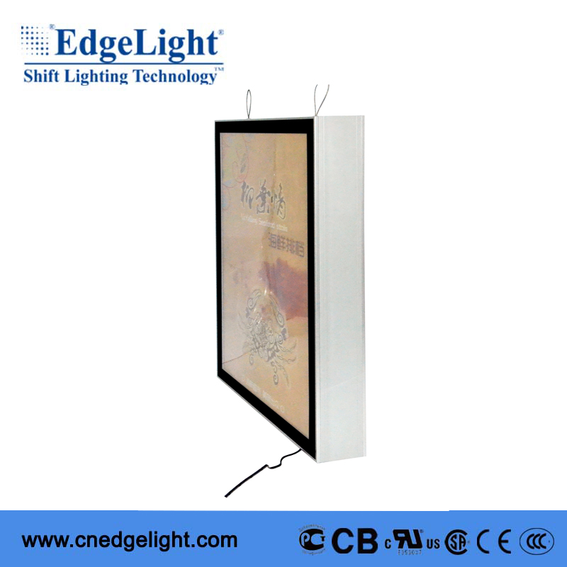 AF56 aluminum profile menu board hanging window display light box China supplier