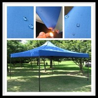 100% polyester twill blue anti-fire water repellent coating fabric for tents