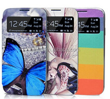Painted PU Leather Wallet Flip Case Stand Cover For Samsung Galaxy S4 IV i9500