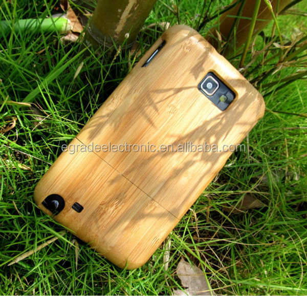 Wholesale 100% Natural Bamboo Case Hand-made Bamboo Cell Phone Case for Samsung Galaxy Note i9220