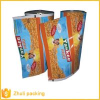 Aluminum foil food packaging film/plastic printed laminated packing film roll for snack