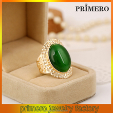 PRIMERO fashion gold gemstone emerald ring with Unique Design STONE RING High Quality 2015 New Design rings with emerald stone