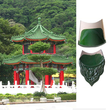 Chinese Roof Tiles Clay Glazed Green Color for Traditional Garden House