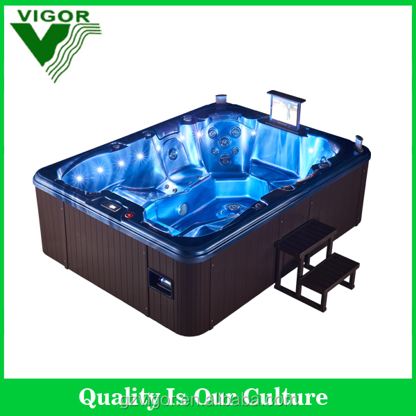 2016 Factory 8 person outdoor spa hot tub / swimspa / massage bathtub with high quality