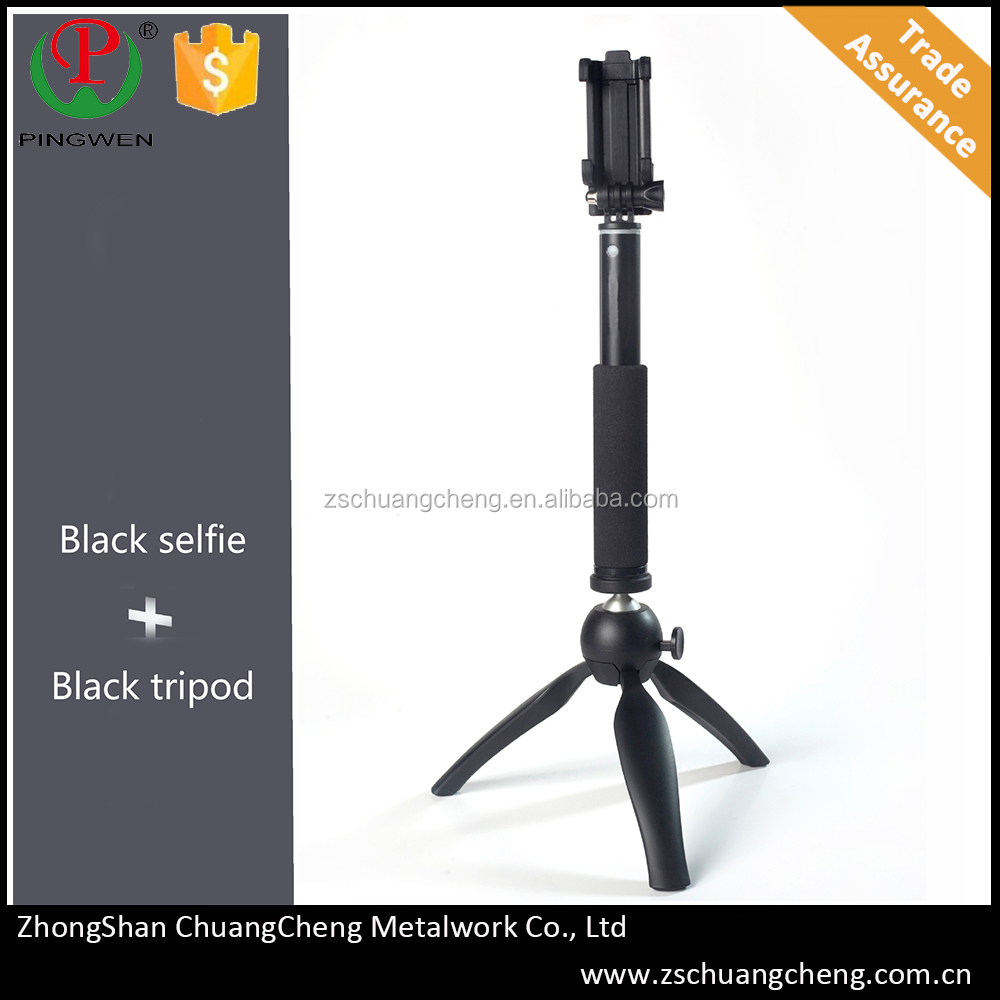 New products heavy duty 18cm ABS tripod+20cm aluminum selfie stick