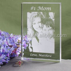 AAA crystal with 3d Laser crystal photo frame