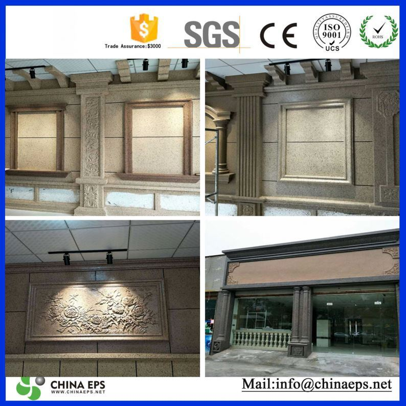 European Style decorative pillars columns eps foam building cornices interior cornice