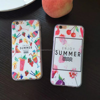 Enjoy Summer Fresh Fruit Cover Case for iPhone 5S 5 SE 6 6S Plus PC +TPU Phone Cases