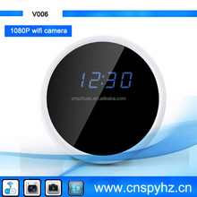 Mlti-function wifi Clock Camera.HD Digital wifi IP Hidden Camera Clock.Clock wifi Radio Hidden Camera T11