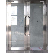 Used Commercial frameless fire rated double swing glass doors
