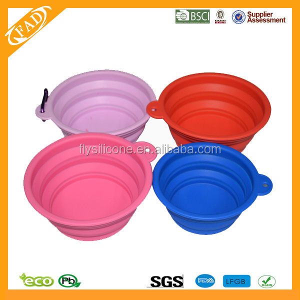 Top Quality FDA Standard dog bowls collapsible