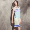 2017 women clothing stripe latest casual dress designs ladies simple fashion dress