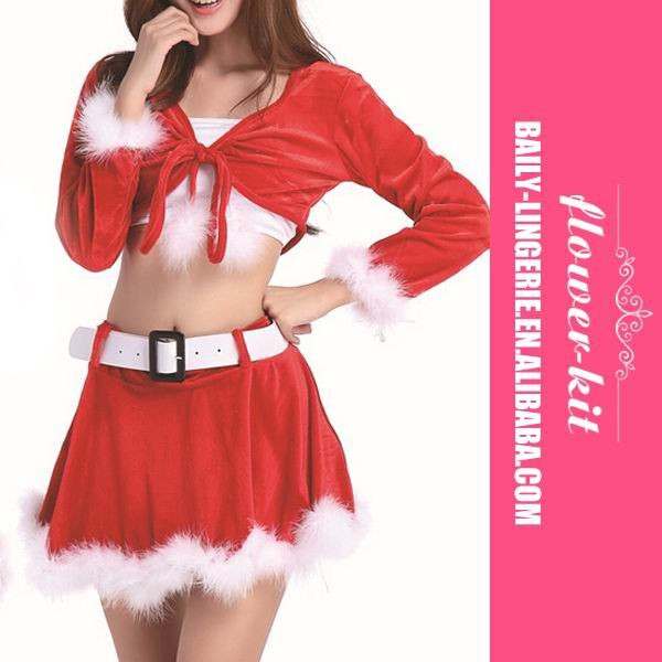 Top Quality New Design Santa Claus Costume Christmas Party Dresses