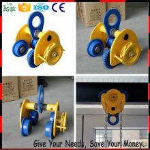 Chinese Supplier manual beam trolley hoist trolley wheels