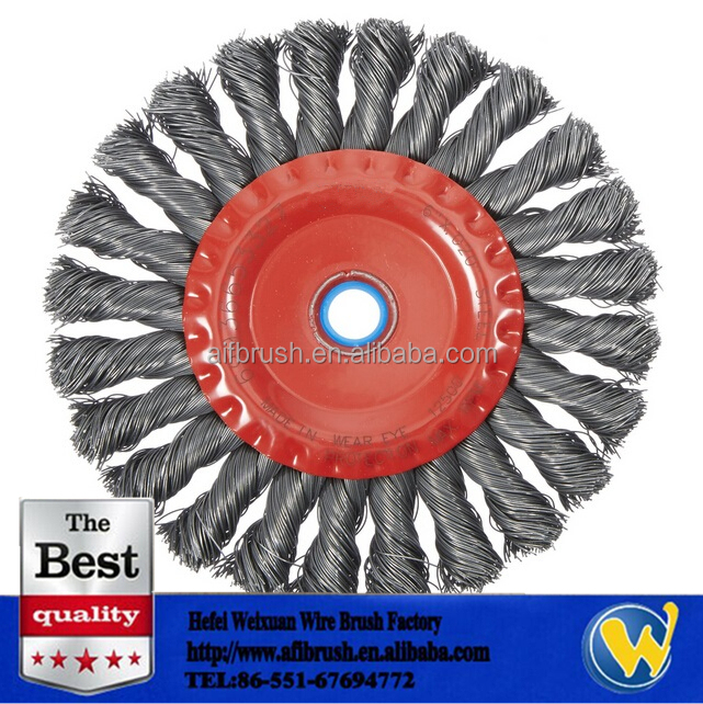 twisted knots wire wheel brushes for pipelines weld cleaning