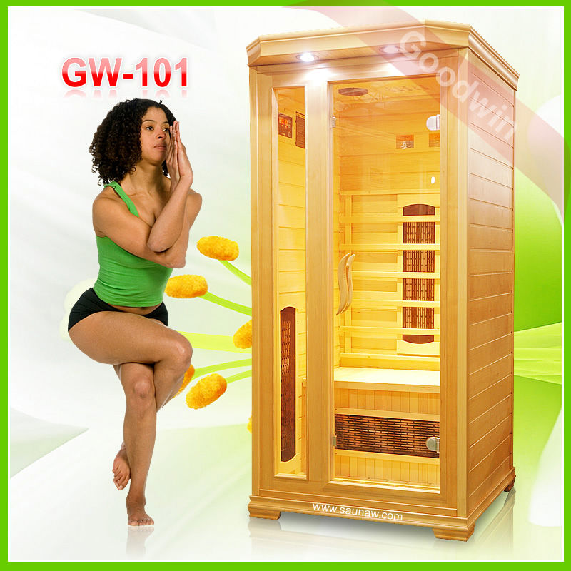 dry sauna with canadian hemlock wood GW-101