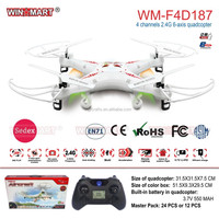 WM-F4D187 2.4Ghz 4ch 6 Axis gyro rc Quadcopter model king toys