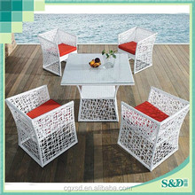 S.D Steel Frame Rattan Handmade Seaside Cafe Courtyard Patio Leisure Life Outdoor Furniture