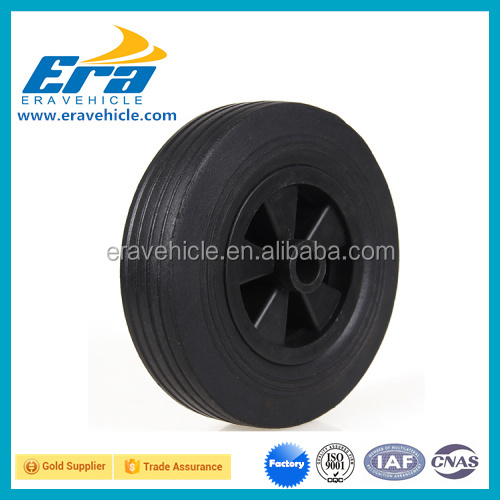 SW03 8inch Solid rubber toy wheel 200x50mm with PVC rim/plastic toy wheel
