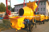 Capacity 30m3/h 450L DK30-8-30 Small Portable Concrete Mixer And Pump For Sale