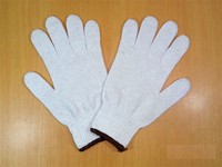 chinese products wholesale white cotton grip gloves