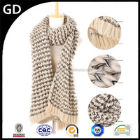 GDK0158 Italian scarf manufacturers Popular winter unisex cable acrylic knit infinity scarf pattern