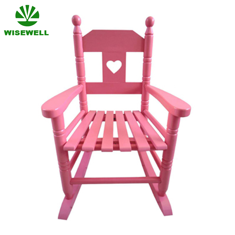 W-G-C1089 wood kid's spindle rocking chair
