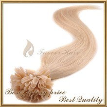Best selling products 100% virgin brazilian human hair 10-30 INCH u tip hair extension