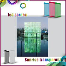 popular building media facade p15.625 mesh transparent led display
