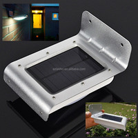 Sliver 16 LED Solar Power Sensor Garden Security Power Lamp Outdoor lighting Waterproof
