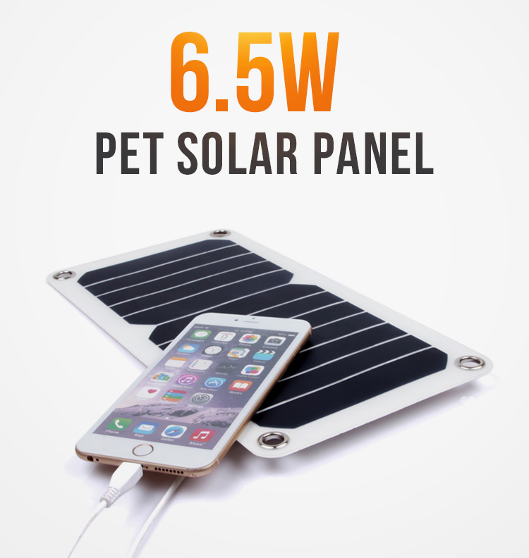 Customized 5v 6.5w Sunpower Semi Flexible Portable Solar  Panel  Solar Cell ODM Supplier Wholesale Price