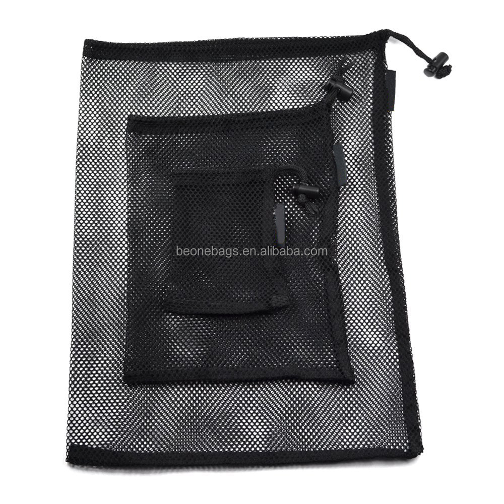 Set of 3 Assorted size Mesh Storage Ditty Bag for Trave Outdoor Activity
