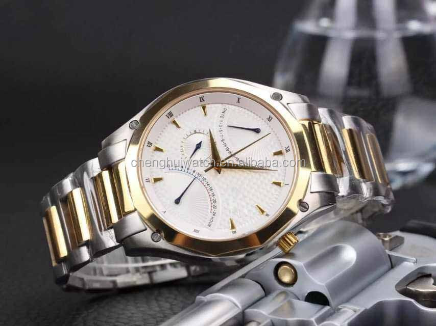 Analog Display Japanese Quartz Two Tone Watch for men with 3 atm water resistant watch