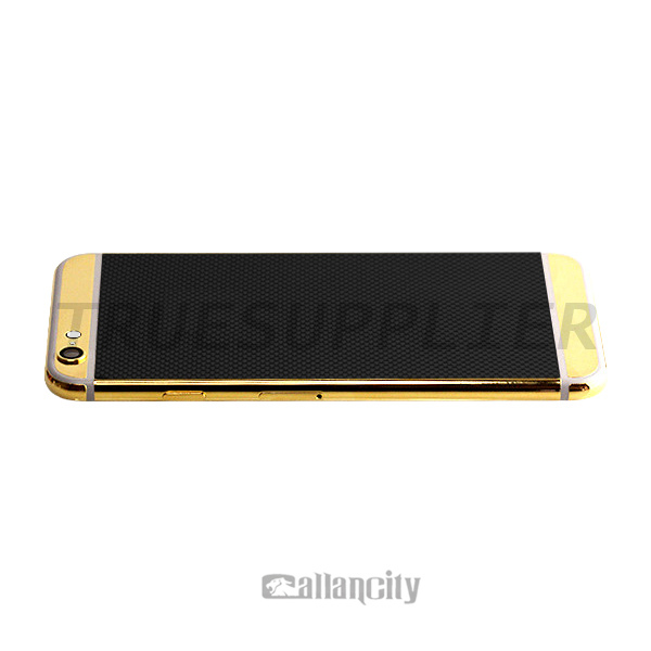 24k gold plated gold bar phone housing for iphone 6 carbon housing