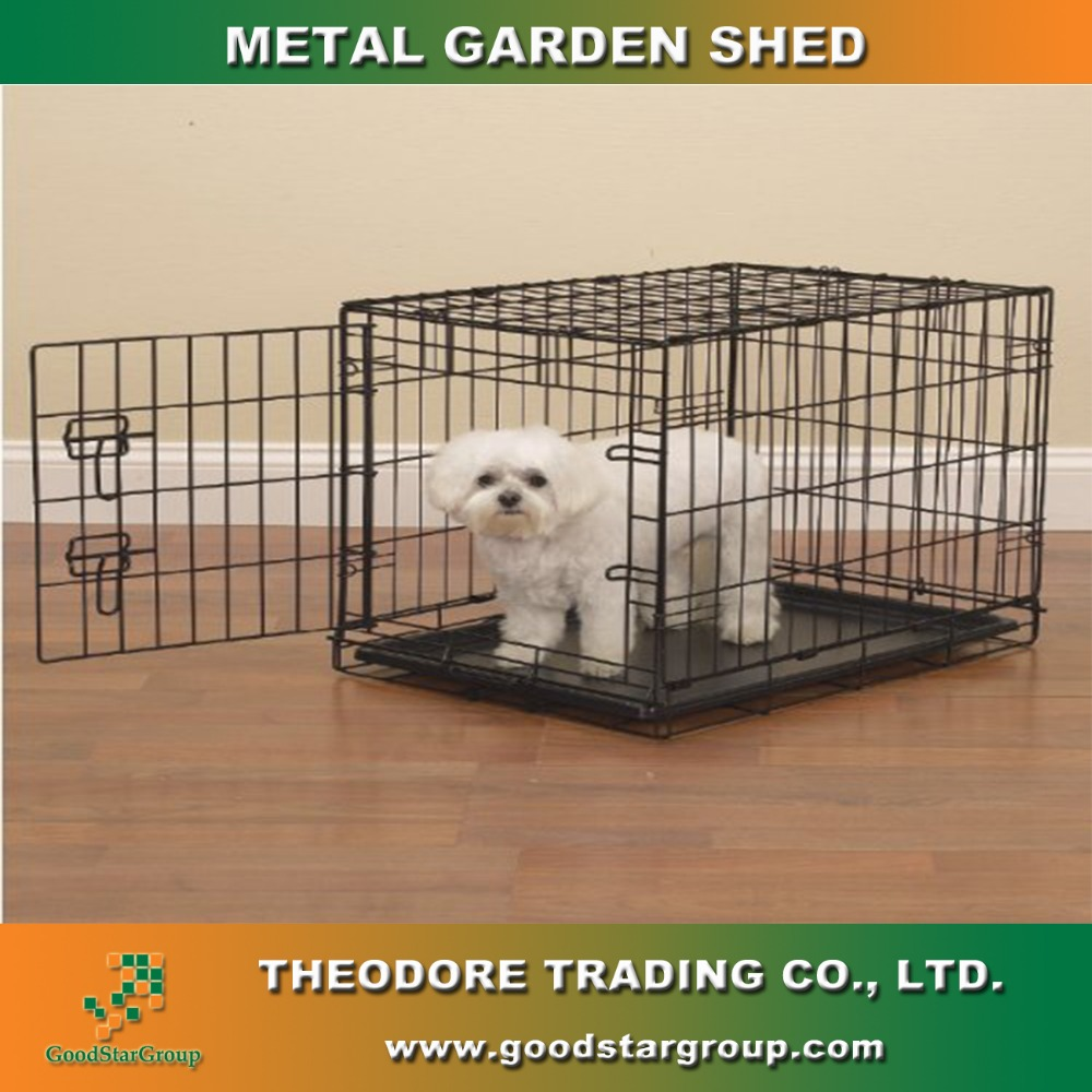 Pet Cage Black Foldable,pet cage bottom tray GSGX-02