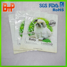 resealable animal feed packaging bag