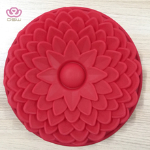 Pieces 6 Cavity Silicone Flower Soap Mold Sunflower Mixed Flower shapes Cupcake Backing mold Muffin pan Handmade soap silicone