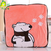 Wholesale High Quality Soft Toy Forest Animal Bear Plush Blanket