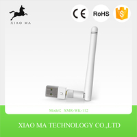 Portable hot selling Mini 150M USB WiFi Wireless Network Card 802.11 n/g/b LAN card Adapter with Antenna XMR-WK-112
