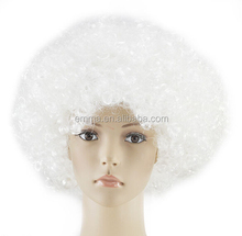 Welcomed by world people white halloween curly wig for promotion W12233