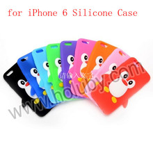 3D Penguine Pattern Silicone Back Cover Hot Selling for iPhone 6 iPhone6 Case, for iPhone 6 Silicone Case